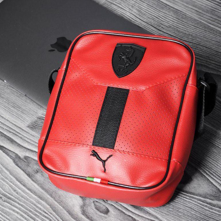 8dccc2340f60 Мужская сумка через плечо в стиле Puma Ferrari Red - Интернет-магазин