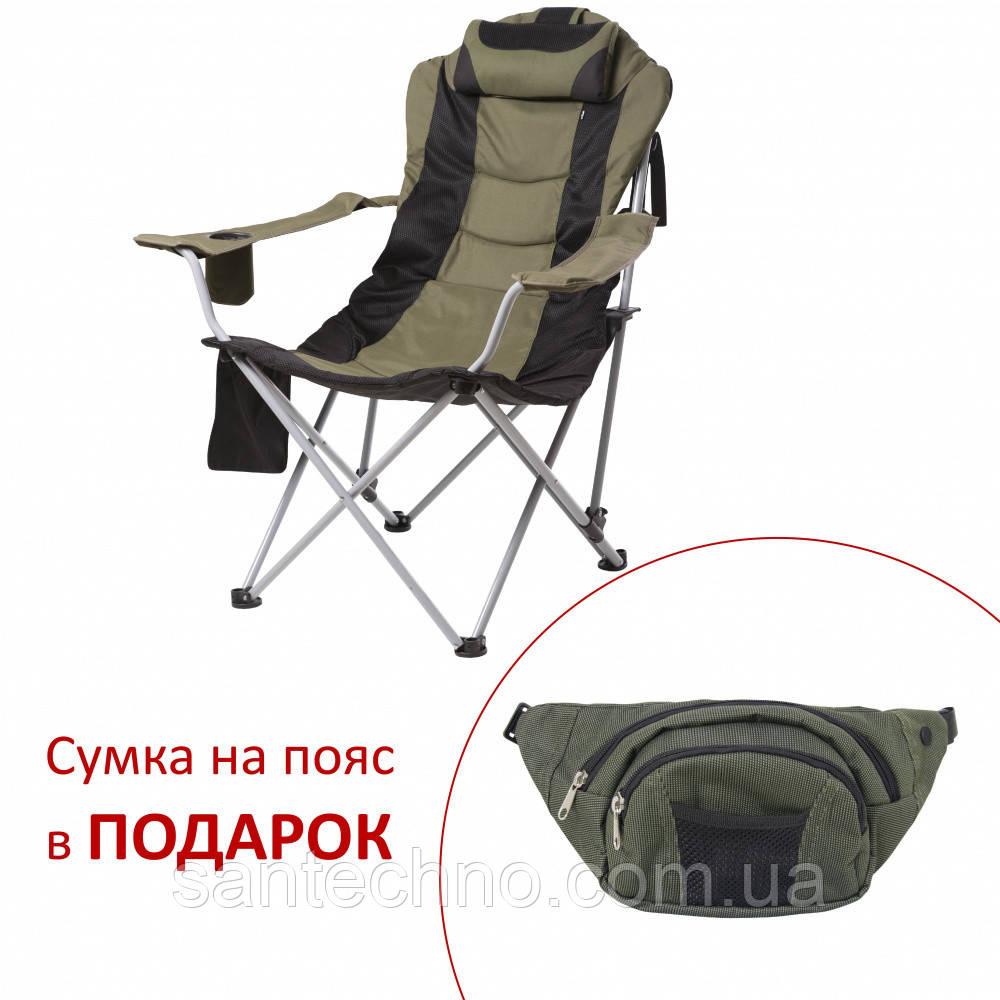"""Кресло складное усиленное для рыбалки и отдыха """"Директор"""" d19 мм (зеленый)"""