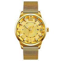 • Гарантия! Skmei (Скмей) 9166 Gold gold    Оригинальные часы !