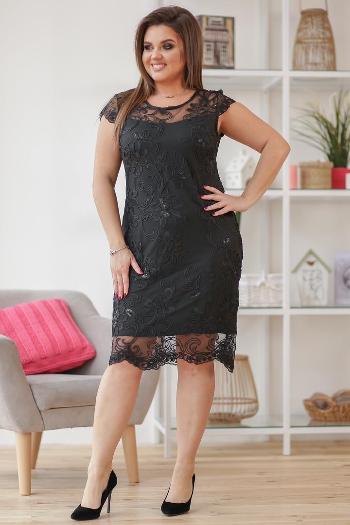 Женское силуэтное платье гипюровое 50,52,54,56
