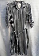 Рубашка-платье в полоску женская полубатальная (ПОШТУЧНО)