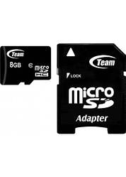 Карта памяти Team MicroSDHC 8 GB Class 10 + adapter(TUSDH8GCL1003)