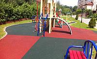 Резиновое покрытие для детской площадки 1м x1м 10мм 20мм 30мм PRO высокое качество
