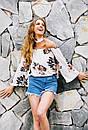 Свободная блузка с открытыми плечами и чокером, фото 2