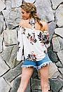 Свободная блузка с открытыми плечами и чокером, фото 3