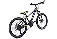 """Подростковый горный велосипед TopRider 611 24"""" с дисковыми тормозами, Черно-зеленый, фото 3"""