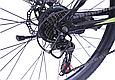 """Подростковый горный велосипед TopRider 611 24"""" с дисковыми тормозами, Черно-зеленый, фото 5"""