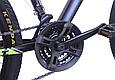 """Подростковый горный велосипед TopRider 611 24"""" с дисковыми тормозами, Черно-зеленый, фото 6"""
