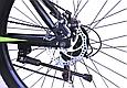 """Подростковый горный велосипед TopRider 611 24"""" с дисковыми тормозами, Черно-зеленый, фото 7"""
