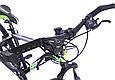 """Подростковый горный велосипед TopRider 611 24"""" с дисковыми тормозами, Черно-зеленый, фото 8"""