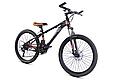 """Горный велосипед TopRider 611 24"""" Черный/Оранжевый, фото 2"""