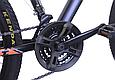 """Горный велосипед TopRider 611 24"""" Черный/Оранжевый, фото 6"""