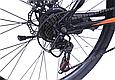 """Горный велосипед TopRider 611 24"""" Черный/Оранжевый, фото 5"""
