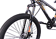 """Гірський велосипед TopRider 611 24"""" Чорно-помаранчевий, фото 4"""