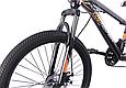 """Горный велосипед TopRider 611 24"""" Черный/Оранжевый, фото 4"""
