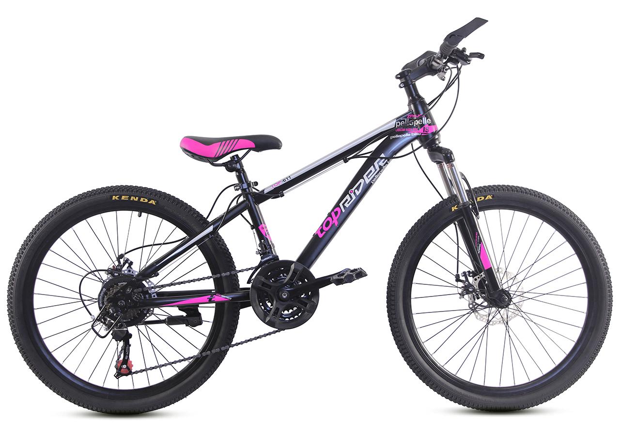 """Горный велосипед TopRider 611 24"""" Черный / Фиолетовый"""