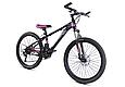 """Горный велосипед TopRider 611 24"""" Черный / Фиолетовый, фото 2"""