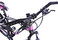 """Горный велосипед TopRider 611 24"""" Черный / Фиолетовый, фото 8"""