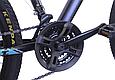 """Гірський велосипед TopRider 611 24"""" Чорний/Блакитний, фото 6"""