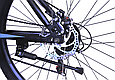 """Гірський велосипед TopRider 611 24"""" Чорний/Блакитний, фото 7"""