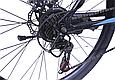 """Гірський велосипед TopRider 611 24"""" Чорний/Блакитний, фото 5"""