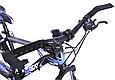 """Гірський велосипед TopRider 611 24"""" Чорний/Блакитний, фото 8"""
