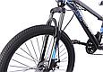 """Гірський велосипед TopRider 611 24"""" Чорний/Блакитний, фото 4"""