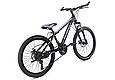 """Гірський велосипед TopRider 611 24"""" Чорний/Блакитний, фото 3"""