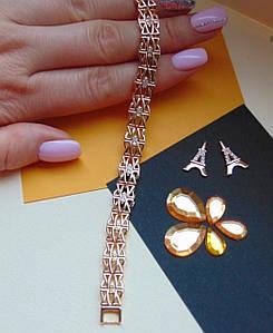 Стильный женский браслет медзолото Xuping