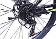 """Горный велосипед TopRider 611 26"""" с дисковыми тормозами, Черно-зеленый, фото 5"""