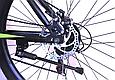 """Горный велосипед TopRider 611 26"""" с дисковыми тормозами, Черно-зеленый, фото 7"""