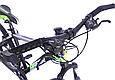"""Горный велосипед TopRider 611 26"""" с дисковыми тормозами, Черно-зеленый, фото 8"""