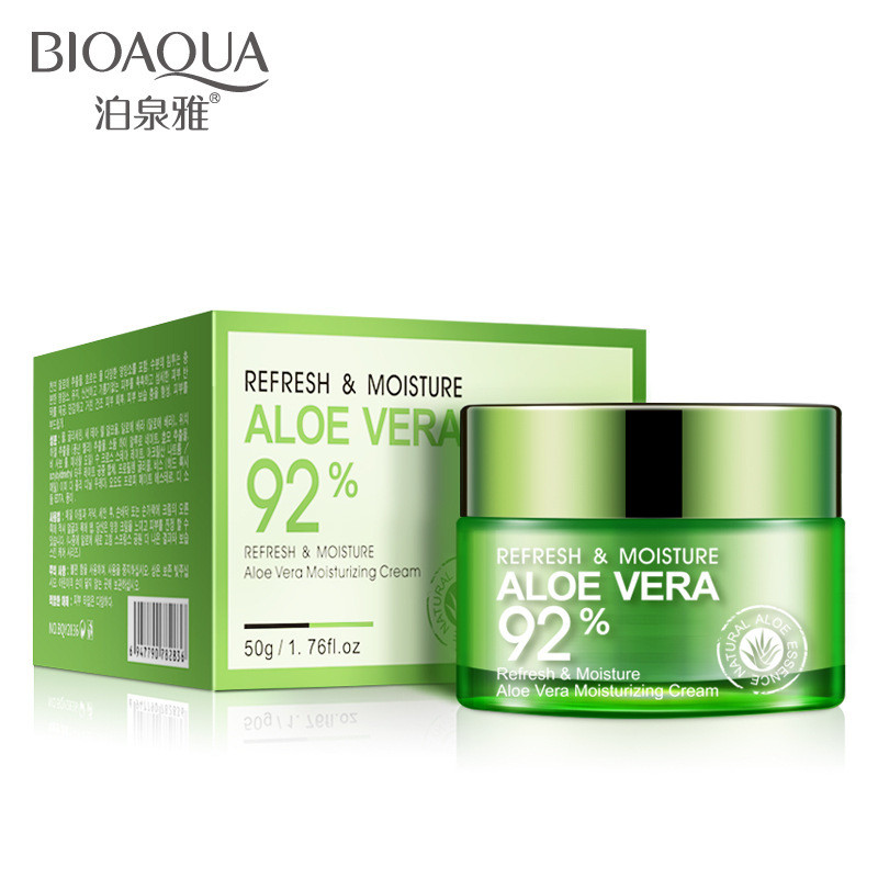 Увлажняющий крем для лица Bioaqua Refresh & Moisture Aloe Vera 92 % Moisturizing Cream, 50г