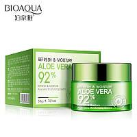 Увлажняющий крем для лица Bioaqua Refresh & Moisture Aloe Vera 92 % Moisturizing Cream, 50г, фото 1