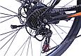 """Гірський велосипед TopRider 611 26"""" з дисковими гальмами, Чорно-помаранчевий, фото 5"""