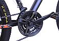 """Гірський велосипед TopRider 611 26"""" з дисковими гальмами, Чорно-помаранчевий, фото 6"""