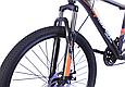 """Гірський велосипед TopRider 611 26"""" з дисковими гальмами, Чорно-помаранчевий, фото 4"""