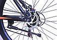 """Гірський велосипед TopRider 611 26"""" з дисковими гальмами, Чорно-помаранчевий, фото 7"""