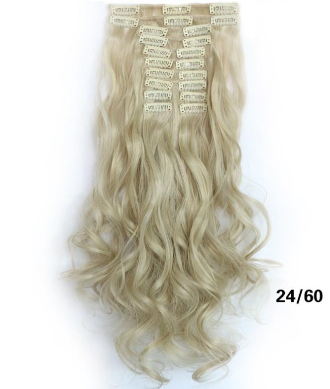 Накладные волосы локоны 12 прядей длинные - 55 см.