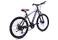 """Гірський велосипед TopRider 611 26"""" з дисковими гальмами, Чорно-фіолетовий, фото 3"""