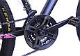 """Гірський велосипед TopRider 611 26"""" з дисковими гальмами, Чорно-фіолетовий, фото 6"""