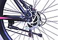"""Гірський велосипед TopRider 611 26"""" з дисковими гальмами, Чорно-фіолетовий, фото 7"""