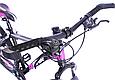 """Гірський велосипед TopRider 611 26"""" з дисковими гальмами, Чорно-фіолетовий, фото 8"""