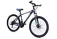 """Горный велосипед TopRider 611 26"""" Черный/Голубой, фото 2"""