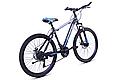 """Горный велосипед TopRider 611 26"""" Черный/Голубой, фото 3"""