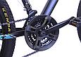 """Горный велосипед TopRider 611 26"""" Черный/Голубой, фото 6"""