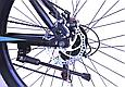 """Горный велосипед TopRider 611 26"""" Черный/Голубой, фото 7"""