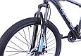 """Горный велосипед TopRider 611 26"""" Черный/Голубой, фото 4"""