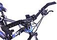 """Горный велосипед TopRider 611 26"""" Черный/Голубой, фото 8"""