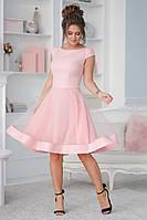 Женское приталенное платье с пышной юбкой 40,42,44,46
